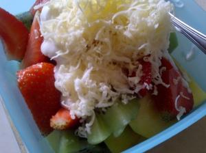 A fresh homemade fruit salad